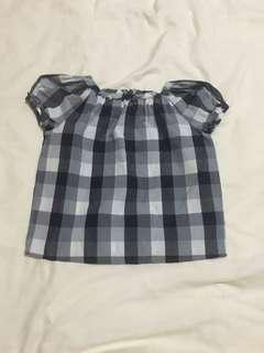 Bonpoint Blue Chequered Blouse