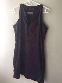 Brown halter dress