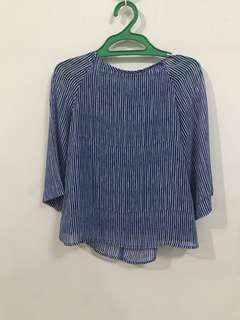 Blue stripes corporate wear