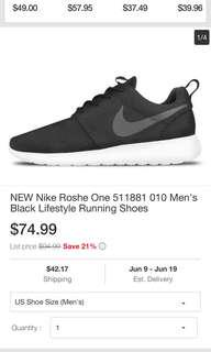 Nike roshe size 11 mens shoes authentic