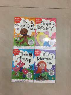 Reading with Phonics fairy tale story books (bundle set of 4)