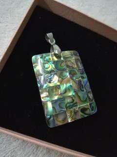 Dual side marble pendant