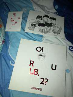 BTS O!RUL8,2?淨專+漫畫紙+摺疊poster