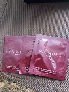 Wander gold eye mask