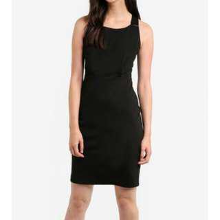 Zalora cross back little black dress