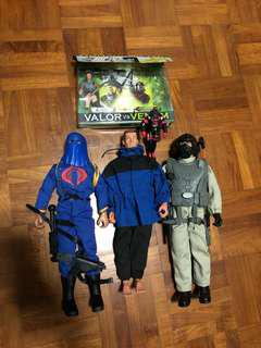 1/6 1:6 3 3/4 inch Lot of classic GI Joe toys