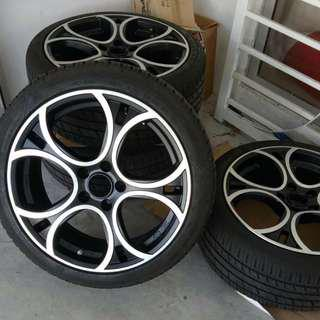 """Rim OZ 18"""" including with tyre"""