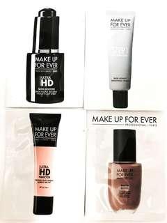 [試用裝] Make Up For ever ultra HD perfector Foundation spf 25 pa++ 粉底 / water blend foundation 粉底 / skin booster serum / base 妝前打底霜  修飾霜 sample forever