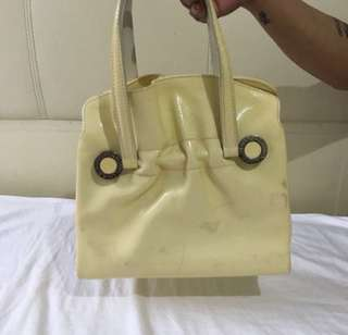Bvlgari White Patent Bag Negotiable