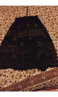 Boho gypsy maxi skirt