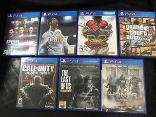 PS4 Games 七隻 ( 不散賣)