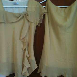 Womens Blouse And Skirt Set
