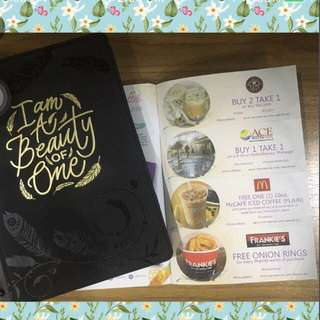BDJ 2018 planner with coupons and membership card for journaling/ planning