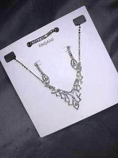 Pagani silver necklace set