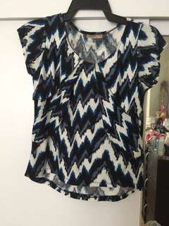 Blue Office Blouse