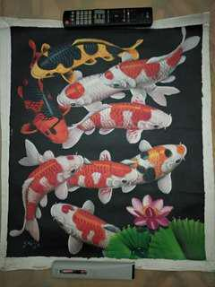 Fish Painting From Bali