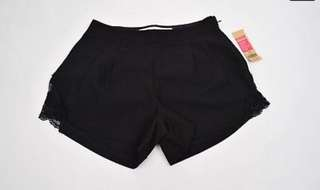 🆕 Size S Black Short with Side Lace Detail