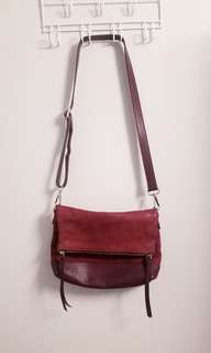 ROOTS Leather & Suede Crossbag