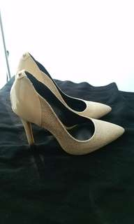 GUESS Rose Gold Stilettos Size 7