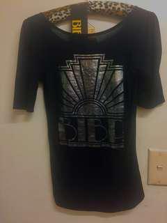 Biba vintage look metallic Deco NWT top