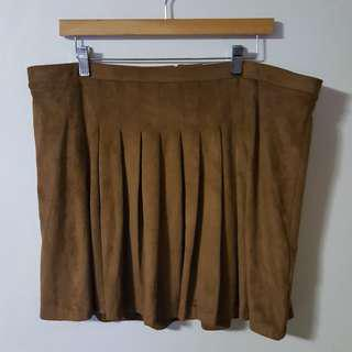 Old Navy Plus Size Brown Pleated Skirt