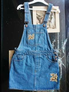 Brand new denim overalls, size 26