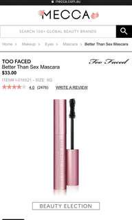 Brand new Too Faced better than sex mascara