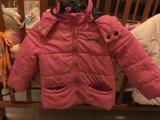 小童 小朋友 粉紅色 夾棉外套