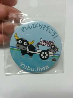 石垣島西表島由布島牛車襟章 Ishigaki Yubujima Pin