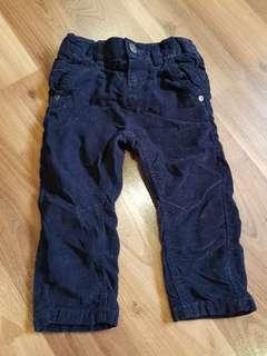 Debenhams UK Navy Blue Corduroy Pants