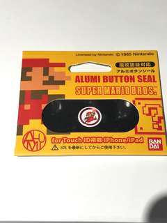 Super MARIO Alumi Button Seal for Touch ID iPhone / iPad