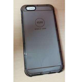 Shockproof Transparent Protective Case Cover for iPhone 6/6s (Black)