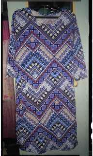 3/4s aztec bodycon dress