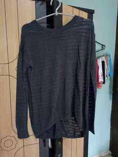 black sweater transparan