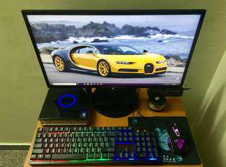 "Gaming PC with 24""Gaming LED monitor"