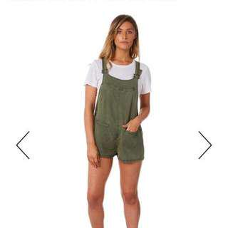 Element Khaki Overalls Size 8