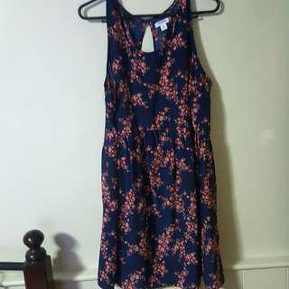 Old Navy Plus Size Blue Floral Dress