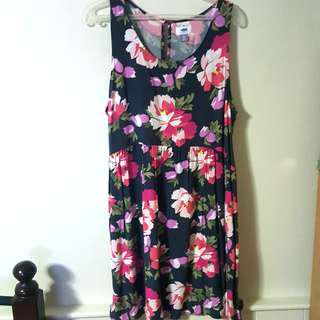Old Navy Plus Size Gray Floral Dress