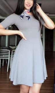 Grey circle dress