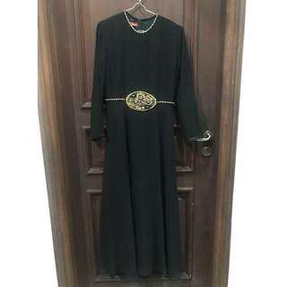 black long dress by wardrobe