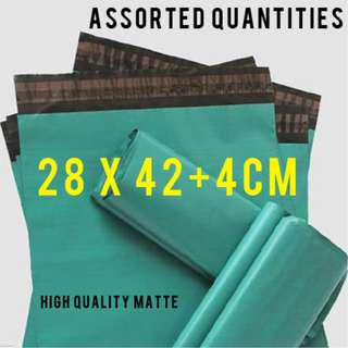 GREEN BLUE polymailer poly mailer mailing bags 28x42 28*42cm 2842 sizing waterproof