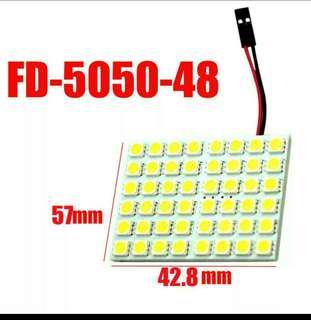 48 SMD 5050 Panel Bright 48 led panel 12v T10 W5W festoon Dome LED Bulb Lamp interior lighting auto parking car light