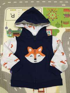 (Preloved) Mr Fox Hoodie Baby Jacket