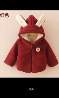 Rabbit coat for winter size 90~130