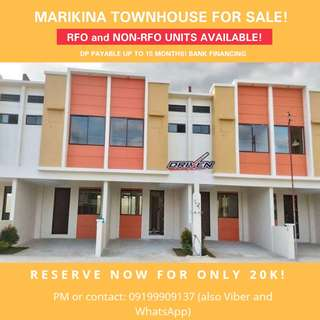 RFO Complete-finished Townhouse in Marikina