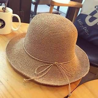 日系拉菲草帽
