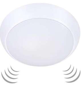(909) Ustellar 15W Motion Sensor LED Ceiling Lights Waterproof, 1200lm (120W Equivalent) 3000K Warm White