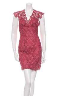 🚚 Tracy Reese Red Lace Dress