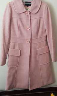 Women lady like wool Winter Coat in pastel pink