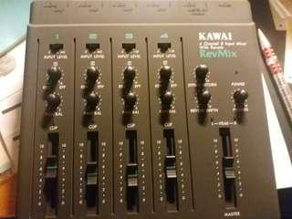 KAWAI 4 channel 8input Mixer